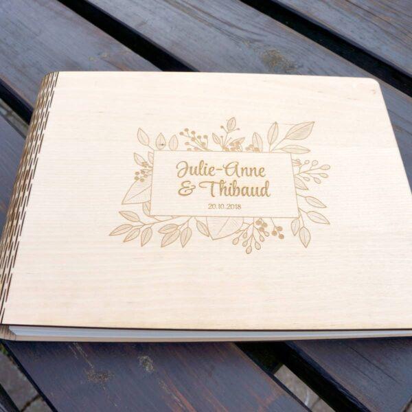 livre d'or mariage en bois