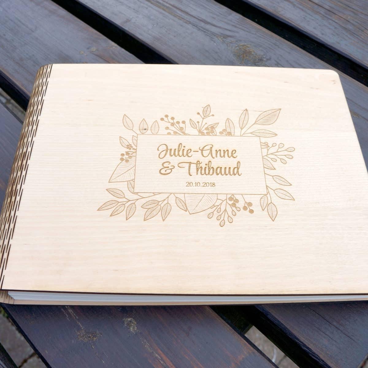 Livre D Or Mariage En Bois