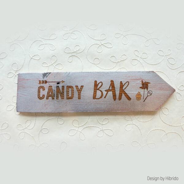 Fleche mariage candy bar-glitter
