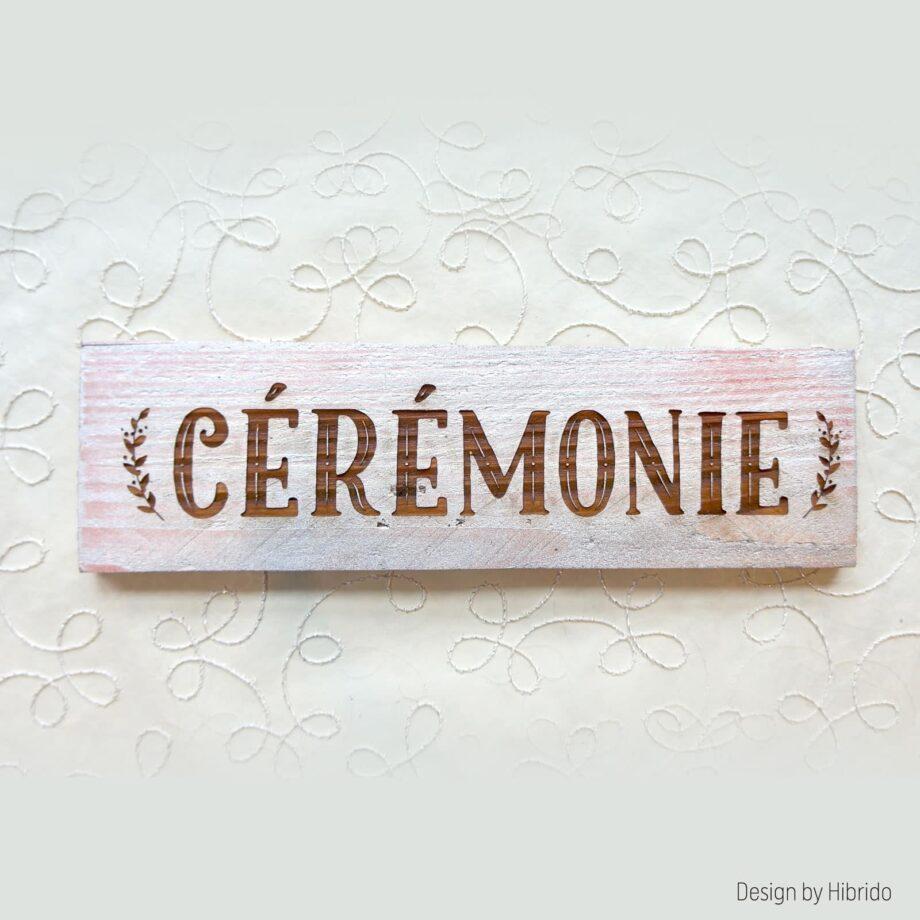 pancarte cérémonie argent