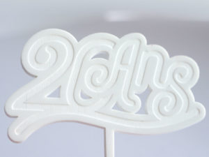 cake topper anniversaire 20 ans