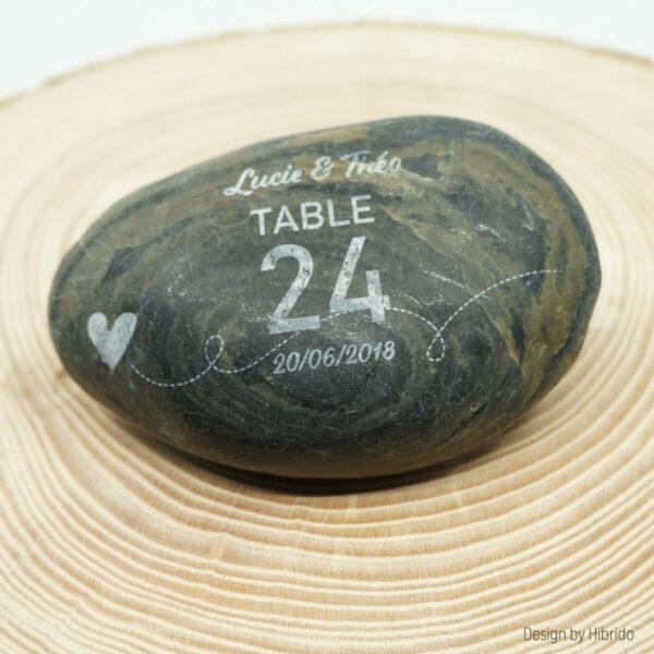 galet numérotation de table avec gravure laser