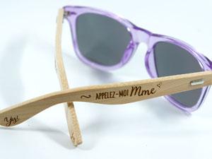 lunettes personnalisées - côté droit