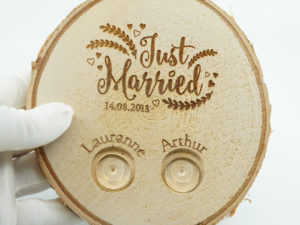 Porte alliance champêtre : just Married