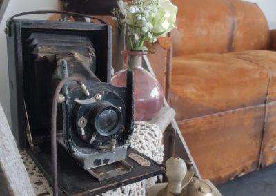 Appareil photo et mobilier vintage