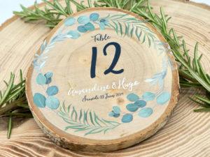 numérotation de table thème eucalyptus