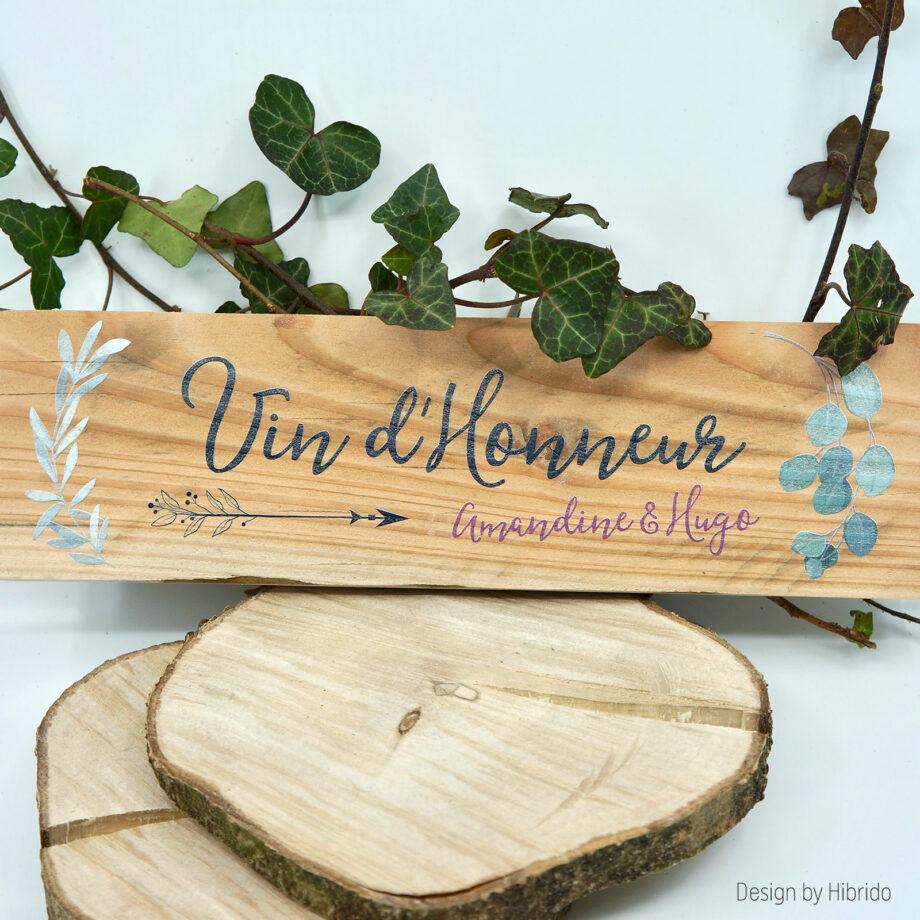 Pancarte en bois