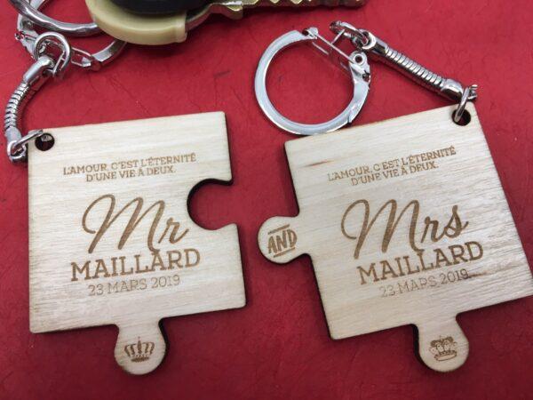 Porte clé Séparable mr et mrs