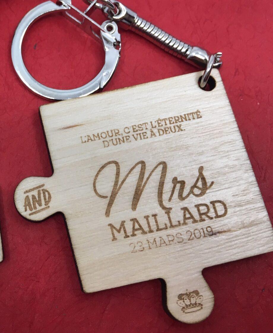 Porte clé Séparable Mrs