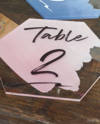 Numéros de tables en plexiglas