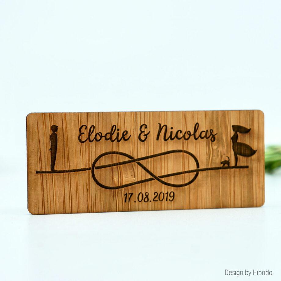 Magnet Amour Infini en bois