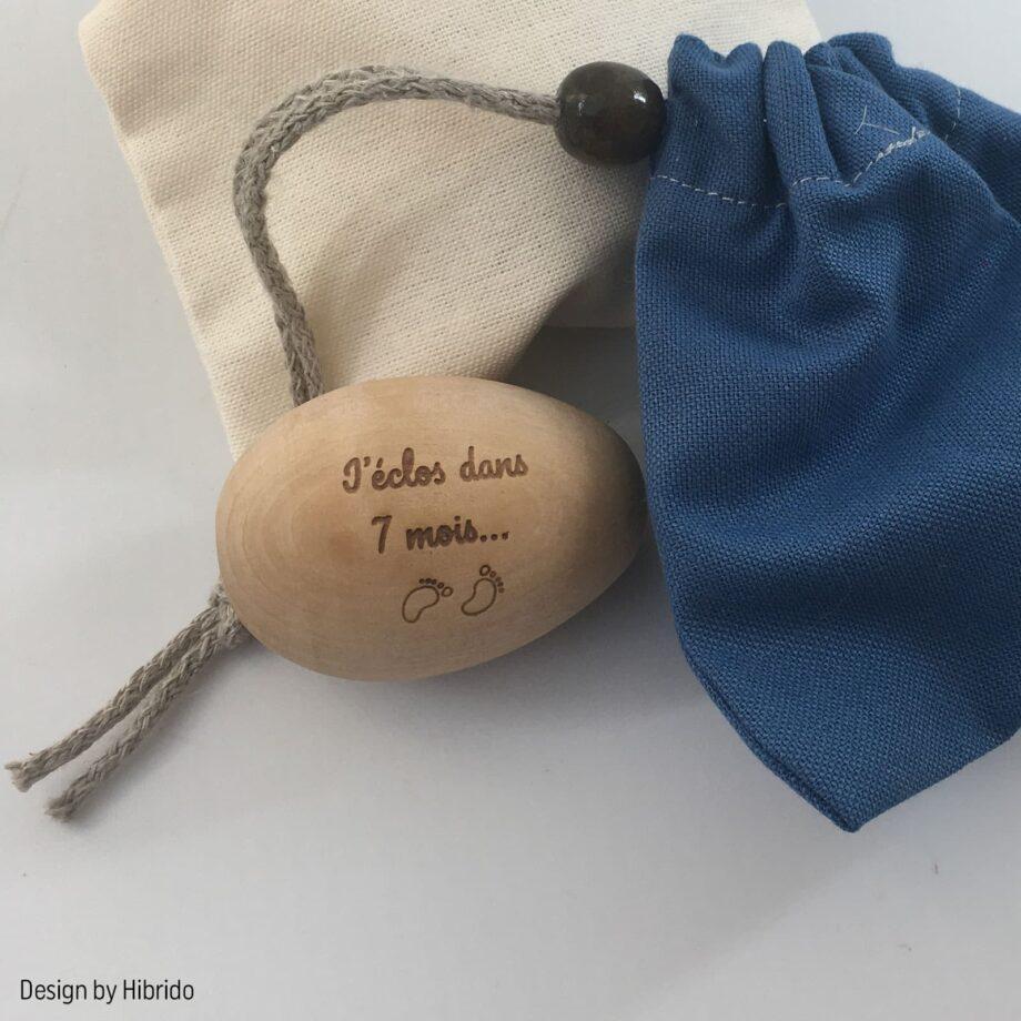 Cadeau naissance bébé : un oeuf en bois