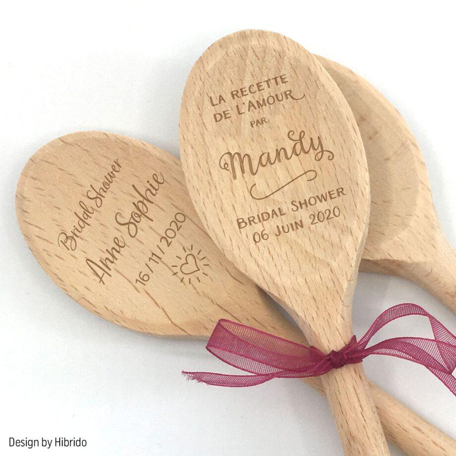 Cuillère en bois personnalisée Bridal Shower