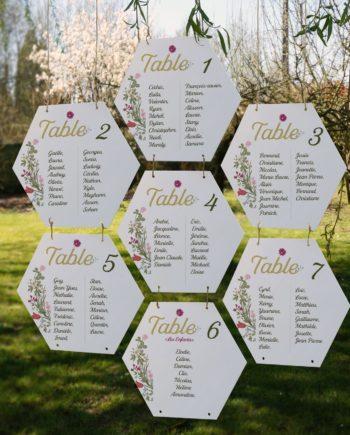 Plan de table mariage en acrylique blanc