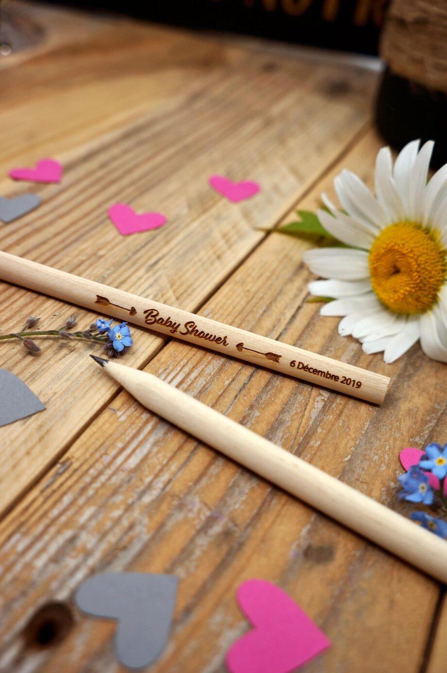 crayon de bois pour Baby Shower