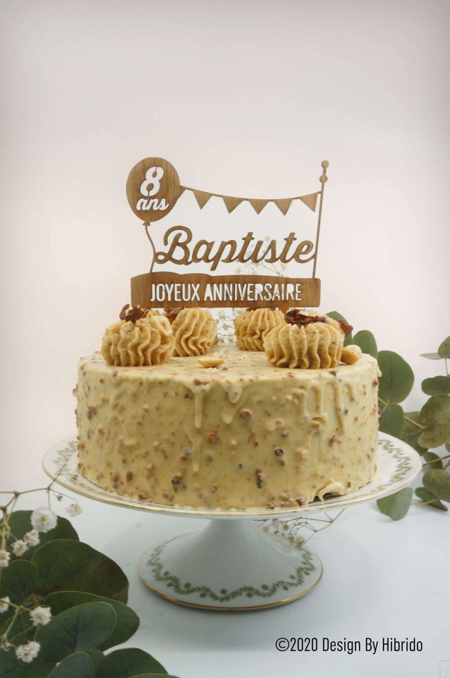 Cake Topper anniversaire enfants