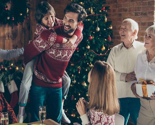soirée de Noël en famille