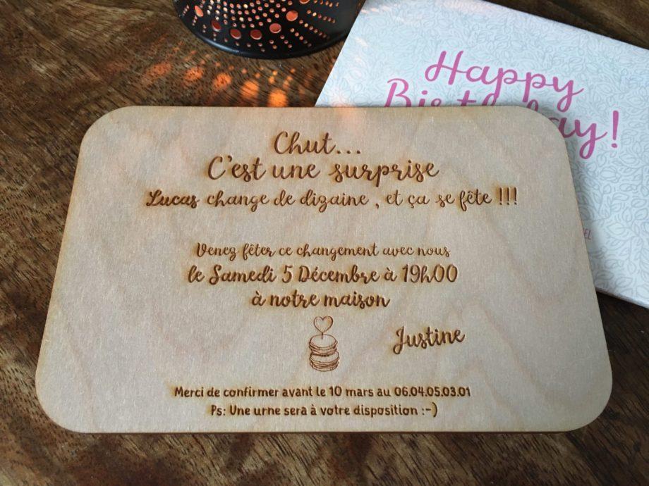 invitation anniversaire originale
