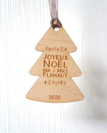 décoration en bois pour sapin
