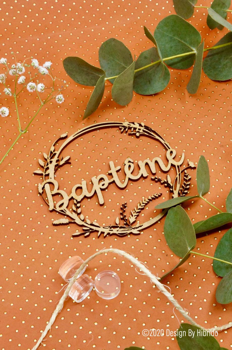 couronne baptême