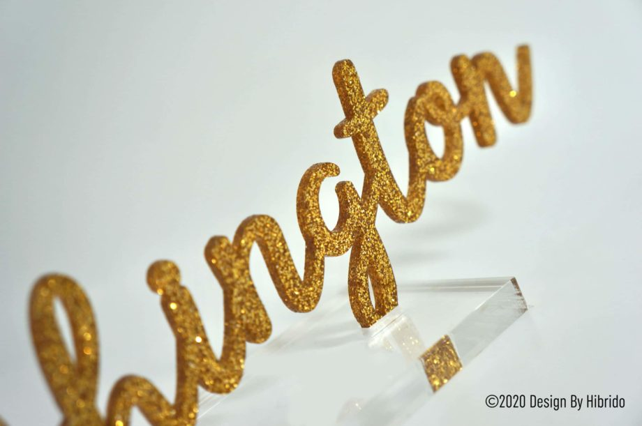 Nom Glitter Or