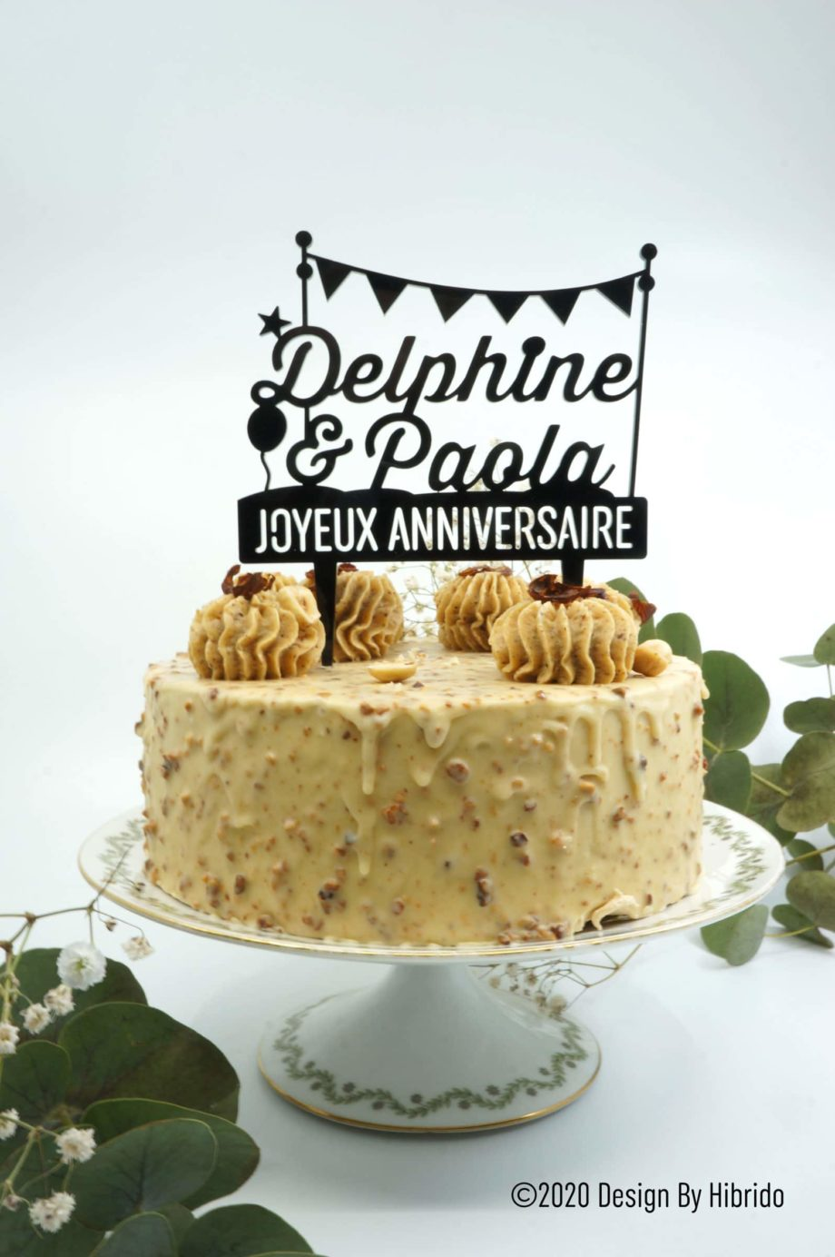 cake topper deux prénoms