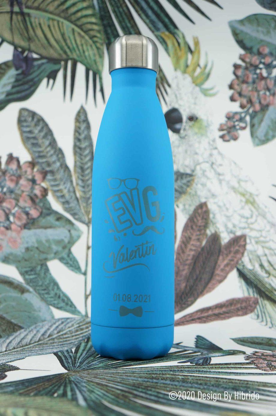bouteille isotherme personnalisable spécial EVG bleu