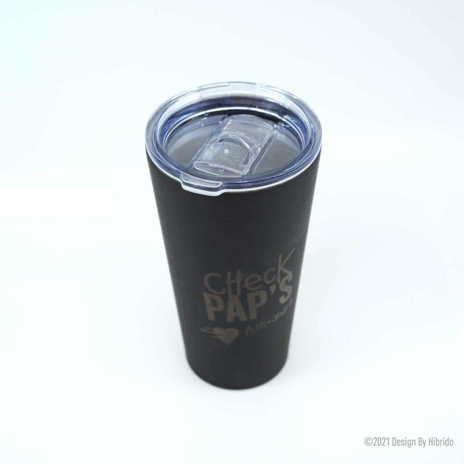 Mug noir mat Check Pap's