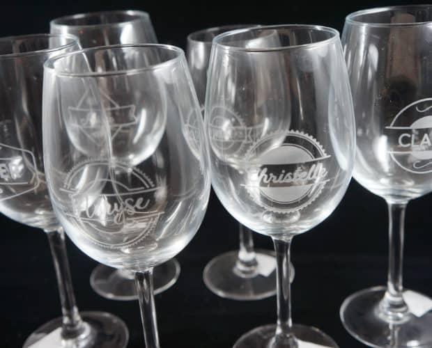 gravure sur verre à vin - Béthune