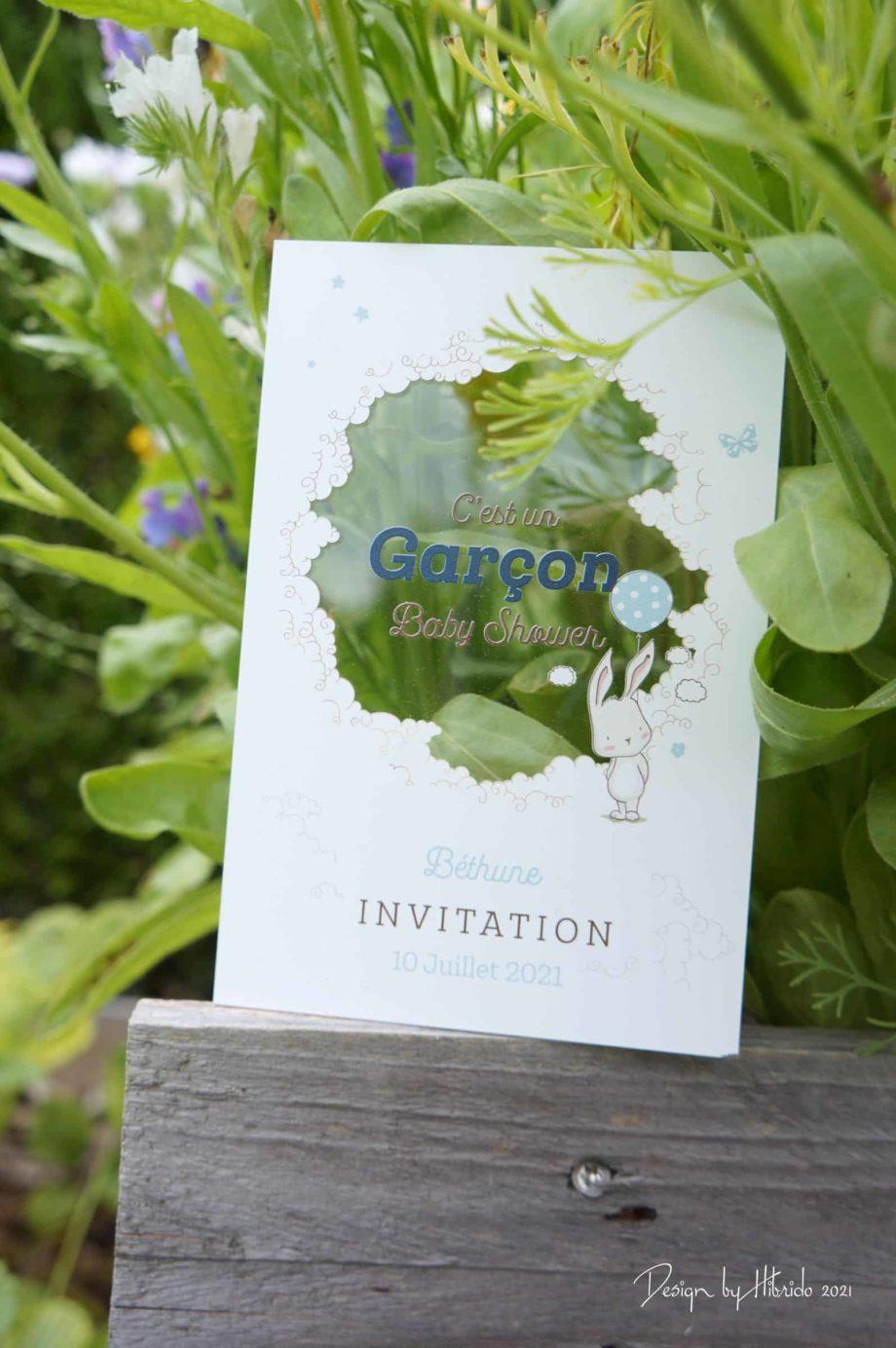 invitation baby shower pour garçon