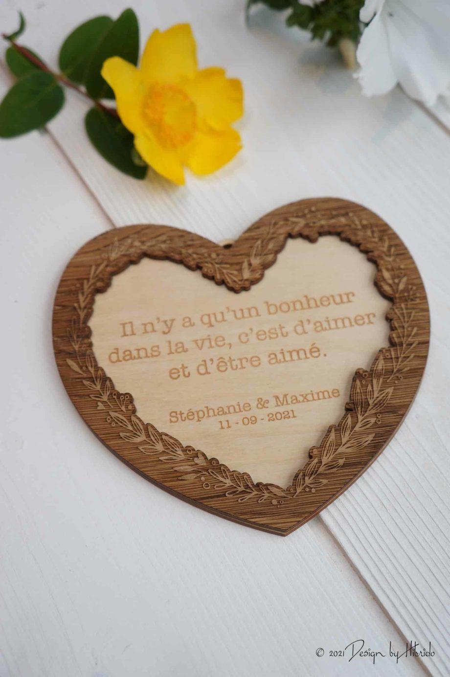 cadre coeur pour message d'amour