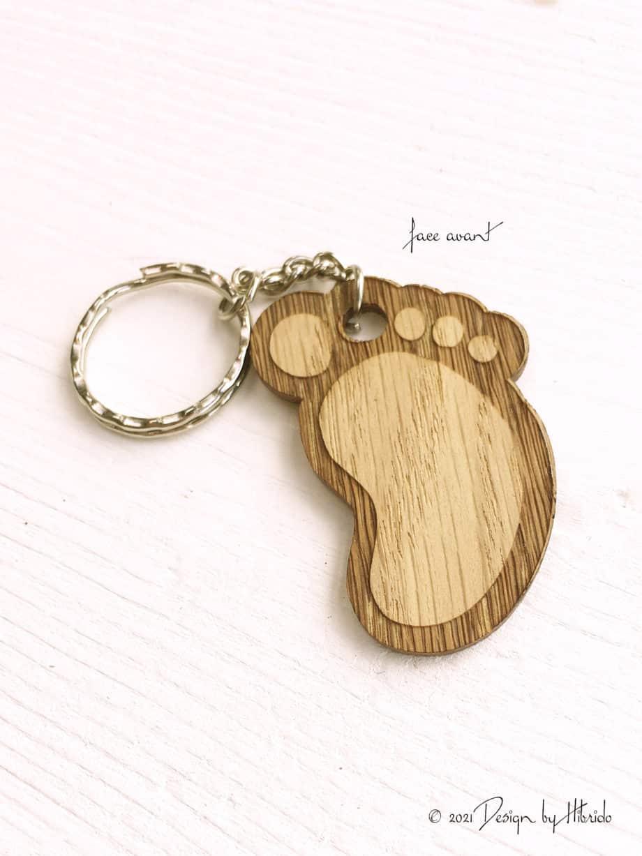 porte clé pied de bébé