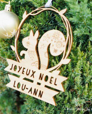 Boule de Noël Ecureuil